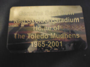NED SKELDON   Stadium seat PLAQUE HOME OF THE TOLEDO MUD HENS