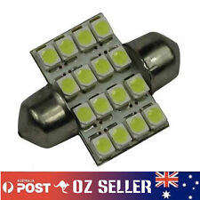 12V White Interior Festoon LED Dome Light 16 SMD 1210 Globe 31mm Super Bright