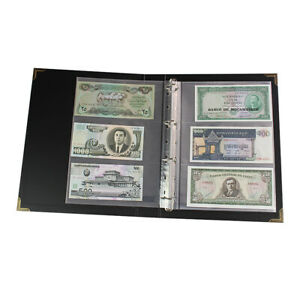 300pcs Currency Page Money Banknote Album Folders Loose-leaf Storage Collections