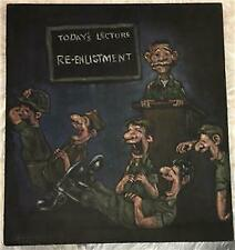 Vietnam Era Humorous U.S. Army Reenlistment Painting On Velvet