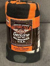 Harley Davidson Genuine American fleece blanket  throw NEW