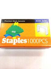 """Heavy Duty Staples 1000pcs 8mm 5/16"""" For Staple Gun Width 10.5mm"""