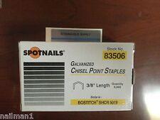 """Spotnails 83506  SHCR 5019 Staples 3/8"""" Length For Bostitch H2B Hammer Tacker 5M"""