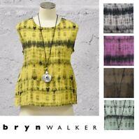 BRYN WALKER Tie-Dye Linen  BASIC TANK  Boxy Top Tunic  XS S M L XL  SPRING 2018