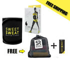 Sweet Sweat Premium Waist Trimmer BLACK, for Men & Women New, Free Shipping