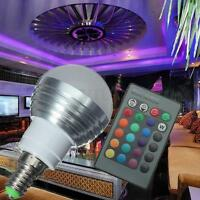 E14 SES 3W RGB LED 16 Colors Changing Light Lamp Bulb + IR Remote Controller NEW