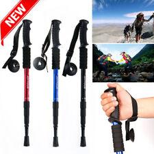 Hiking Stick Trekking Anti Shock Walking Alpenstock Adjustable Walk Pole