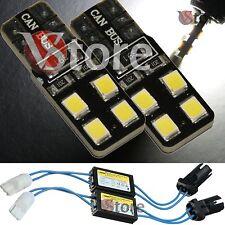 2 Lampade T10 LED 8 SMD 2835 No Errore CDB Luci BIANCO Xenon CANBUS + RESISTENZE