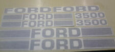 Ford 3500 Tractor Loader Decals