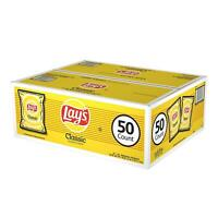 Lays Classic Potato Chips 50 Bags Case Vending Single Serve 1 oz