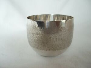 TUMBLER CUP CONTEMPORARY STERLING SILVER LONDON 1964
