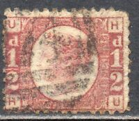 1870 Sg 48 ½d Rose-red 'HU' with Duplex Cancellation Used