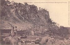 CPA MADAGASCAR DIEGO SUAREZ CARRIERE DE PIERRES DU BASSIN DE RADOUB