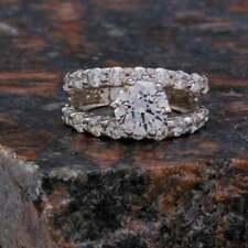 Wedding Ring Engagement Ring 3.07 Ct Fine Round Cut