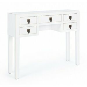 Console Table 5C Bejing White