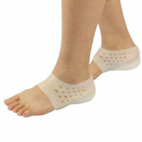 2x Invisible Height Lift Heel Pad Sock Liners Increase Insole Pain Relieve Pads