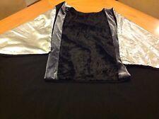 Renaissance Knight Warrior Tunic Medieval Costume Black Silver Times Larp One Ok