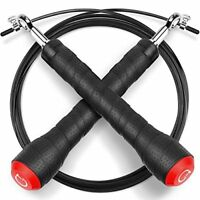 Skipping Rope,Gritin High-grade Adjustable Speed Jump Rope Skip Rope with Soft R