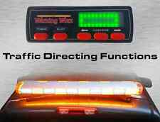 "Warningworx Full Size 47"" White Amber LED Strobe Light Bar Traffic Arrow 88W"