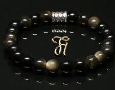 Obsidian Bracelet Pearl Bracelet Black 8mm