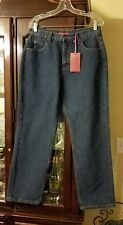 Women's New Cottage Street Jeans Straight Leg Dark Wash Relaxed Fit Size 12r