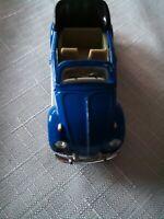 VW BEETLE CABRIOLET-blau- HONGWELL -1:72- Modellauto unbespielt, Vitrinen Modell