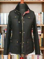£229 LADIES BARBOUR MORRIS UTILITY BLACK WAXED JACKET SIZE UK 10 US 6 EU 36