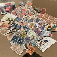 BOX LOT WW STAMP LOT. 1'000's OF OFF PAPER STAMPS, 50+ WORLDWIDE COUNTRIES