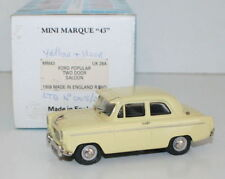 MINIMARQUE 1/43 UK28A - 1959 FORD POPULAR TWO DOOR SALLON - YELLOW - WITH VISOR