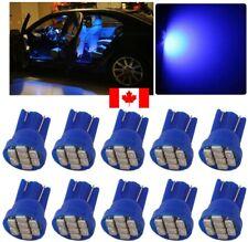 10X Blue Xenon LED T10 8SMD/5050/194Bulbs Light 68 W5W license Plate Short Base