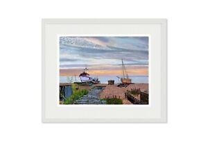 Sunrise Deal Beach Kent Framed Giclee Limited edition print