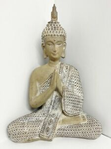 LARGE THAI SITTING BUDDAH STATUE ORNAMENT HOME OFFICE DECORATION GIFT PRESENT