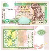Sri Lanka 10 Rupees 2006 P-115 Banknotes UNC
