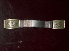 vintage tourquoise & coral & silver watchband .indian made , sweet item ********