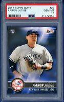 2017 Topps Bunt #20 AARON JUDGE RC Rookie (Yankees) PSA 10 GEM MT  *POP 12*