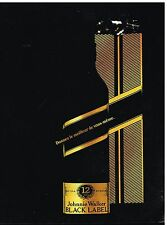 Publicité Advertising 1989 Scotch Whisky Johnnie Walker Black Label