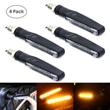 4 x Universal Motorcycle Bike LED Amber Turn Signal Light Indicator Blinker Lamp