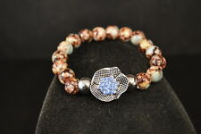 NOOSA Stretch Beads CHARM BRACELET  New! Jewelry  USA SELLER  snap button chunk