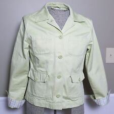 NICE LL BEAN Women's Spring Blazer Coat Lime Green Size Medium EXCELLENT