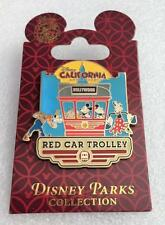 Disney California Adventure Mickey Mouse Goofy and Friends Red Car Trolley Pin