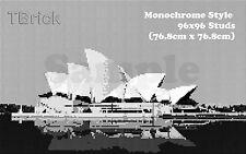 TOYBRICK - Build Your Own Custom Mosaic Art 96x96 STUDS - Monochrome Style
