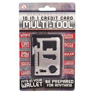 10-in-1 Credit Card Multi-Tool Bottle Opener - beer handy screwdriver saw