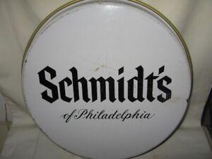 """Vintage Round Schmidt's Of Philadelphia Light Beer Metal Tray 13"""" VGC"""