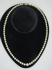 """VINTAGE SOLID 14K GOLD CLASP GRADUATED 5-8 mm FRESH WATER PEARL NECKLACE 19"""" 20g"""