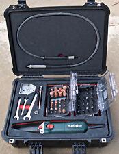 Metabo Variable speed die grinder with LARGE SET kit of stones burrs set mount