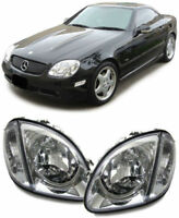 CRYSTAL CLEAR HEADLIGHTS HEADLAMPS FOR MERCEDES SLK R170 04/96-04/2004 R1705346