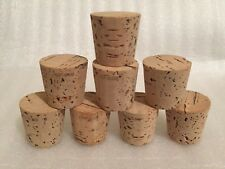 """CORK, Push-In, Tapered, Round Cork Plugs,(8), Size 18, Fits 1 1/2"""" Large End"""