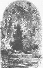 FRANCE. The spring of St Odile 1903 old antique vintage print picture