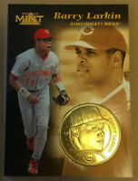1997 Pinnacle Mint Collection Barry Larkin #27 coin die cut insert Limited Ed NM