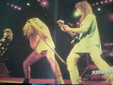 Van Halen Live Tour Double Page Poster or Cornell Soundgarden from Kerrang Mag